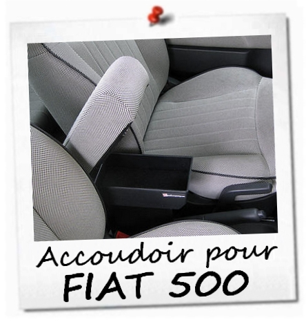 fiat 500 accoudoir premium reglable armrest with storage mittelarmlehne ebay. Black Bedroom Furniture Sets. Home Design Ideas